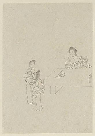 Ban Zhao - Ban Zhao, as painted by Gai Qi, 1799