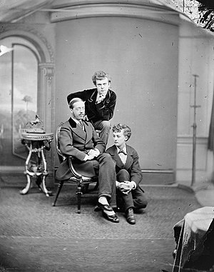 Lord Arthur Clinton - Arthur Pelham-Clinton (seated), with Thomas Boulton and Fredrick Park