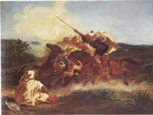 Fantasia (performance) - Fantasia Arabe by Eugene Delacroix, 1833