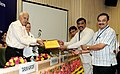 "Farooq Abdullah gave away the awards to various stake holders for their performance, at the ""National Workshop on Solar Water Heater"", organised by the Ministry of MNRE, in New Delhi on August 23, 2012.jpg"