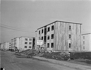 Benny Farm - Houses of Benny Farm under construction in 1947