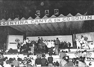 Cosquín Festival - Cosquín: Atahualpa Yupanqui stage, ca 1970