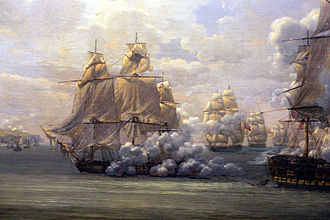 French frigate Poursuivante (1798) - Image: Fight of the Poursuivante mp 3h 9427