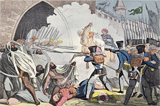 French Algeria - Fighting at the gates of Algiers in 1830