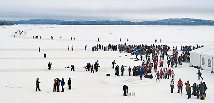 Finland Ice Marathon, the skating event in Kuopio, Finland, in 2006 Finland Ice Marathon 2006 pano.jpg