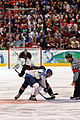 Finland vs Germany faceoff Olympics 2010.jpg