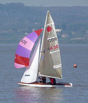 Fireball (dinghy) - Fireball dinghy under spinnaker
