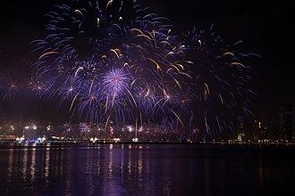 Fireworks - Fireworks on Qatar National Day 2018 in Doha