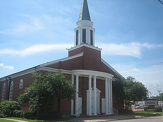 East Texas - First Baptist Church at 117 Cora Street in Center is located next to the downtown section.