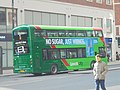 First Leeds bus in green livery on the Headrow, Leeds (22nd February 2018).jpg