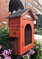 First Universalist Church of Rochester Little Free Library Left Side.jpg