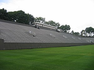 Holy Cross Crusaders - Visitor side of football stadium (2008)