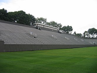 Fitton Field - 2008, visitor side of football stadium
