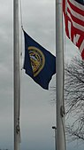Flag of Nebraska at half-mast