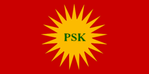 Revolutionary Party of Kurdistan - Flag of the Revolutionary Party of Kurdistan (PŞK)