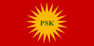 Revolutionary Party of Kurdistan - Flag of the Revolutionary Party of Kurdistan (PŞK)
