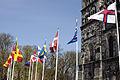 Flaggor utanfor Lunds domkyrka.jpg