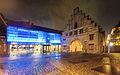 Flensburg Nordertor Phänomenta Nacht Regen.jpg