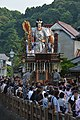Float of old Hon-ch of Sawara carryibng the Jingu-kogo empress' doll,Hama-cho,Itako city,Japan.jpg