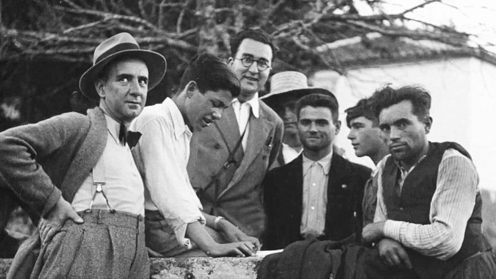 Florentino López Cuevillas sombreiro