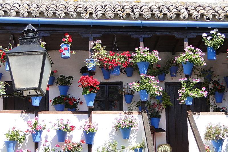 File:Flower-Laden Patio - Cordoba, Spain.jpg