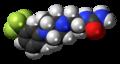 Fluprazine molecule spacefill.png