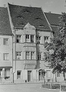 Das ehemalige Göschen-Verlagshaus in Grimma 1952 – heute Seumehaus (Quelle: Wikimedia)