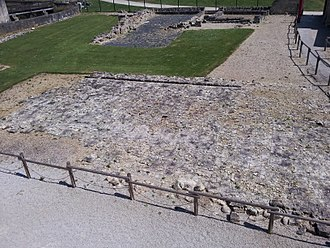 Château de Caen - Foundations of William's residence circa 1060.