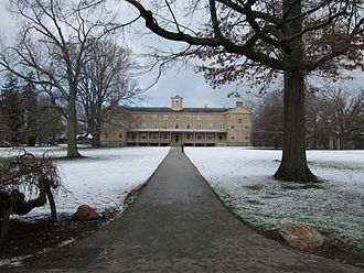 Haverford College - Founders Hall after snowfall