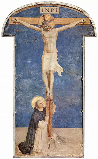 Museo Nazionale di San Marco - Fran Angelico, St. Dominic worships the Crucifix