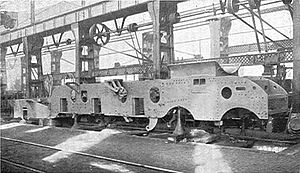Locomotive frame - Locomotive frame of a LNER Gresley pacific locomotive during construction