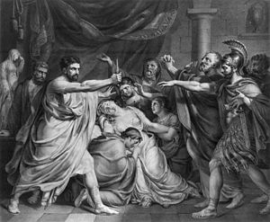 "Lucius Junius Brutus - ""The oath of Brutus"" by François-Joseph Navez"