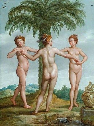 Euphrosyne - Francesco Primaticcio - The Three Graces (Aglaia, Thalia and Euphrosyne)
