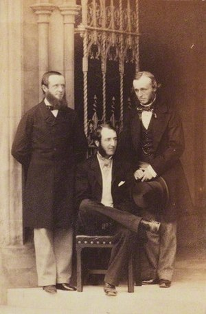 Francis Russell, 9th Duke of Bedford - Francis Charles Hastings Russell, 9th Duke of Bedford; Sir Robert Nigel Fitzhardinge Kingscote; George William John Repton by Camille Silvy