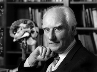 "Francis Crick Institute - Francis Crick, who with James Watson created the first double- helix model of DNA and is a ""father of modern genetics"""