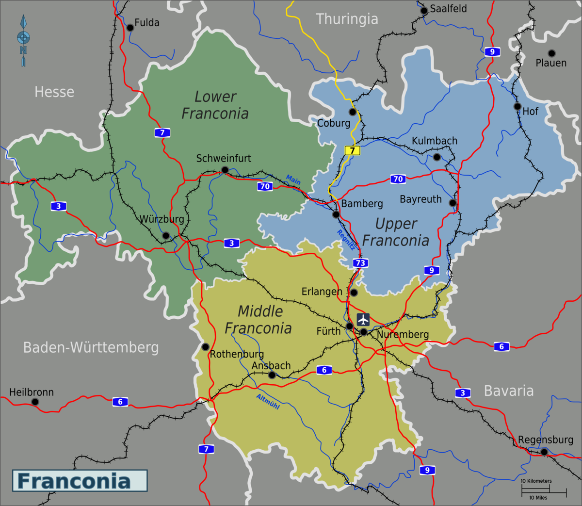 Franconia Travel guide at Wikivoyage