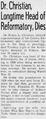 Frank LaMar Christian, M.D. (1876-1955) obituary.png