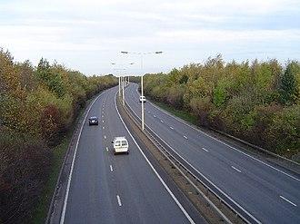 Road transport in Peterborough - The Frank Perkins Parkway heading towards Newark