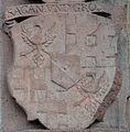 Frankfurt Katharinenkirche Epitaph Heinrich Volrat von Stolberg-Königstein Ahnenprobe rechts 04 Sagan und Gros.jpg