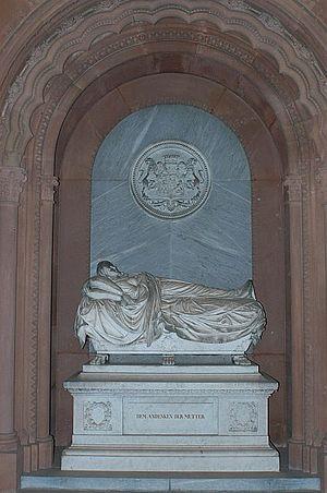 Emilie Ortlöpp -  Sarcophagus at Frankfurt's main cemetery