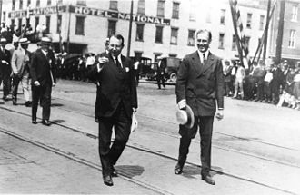 James M. Cox - Cox with FDR in Dayton, Ohio during 1920 presidential campaign