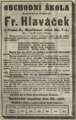 Frantisek Hlavacek inzerat 19090919.png