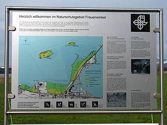 Frauenwinkel - information board and map