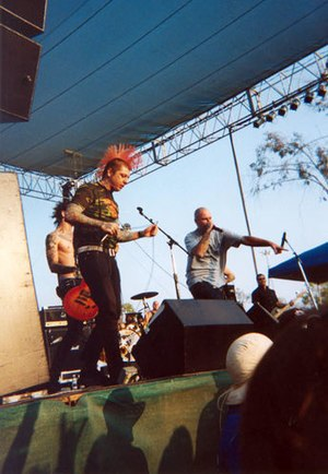 Skinhead Rob - Skinhead Rob (right) Lars Frederiksen (left)  performing in 2005.