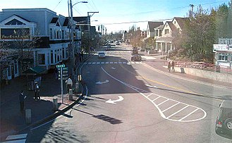 Freeport, Maine - View of downtown