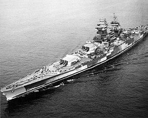 French battleship Richelieu underway in the Atlantic Ocean on 26 August 1943 (80-G-78789).jpg