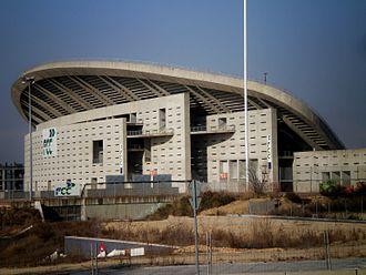 Wanda Metropolitano - Image: Frente del Estadio Olimpico de Madrid