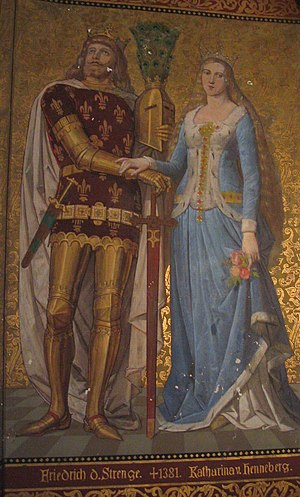 Frederick III, Landgrave of Thuringia - Friedrich III of Thuringia, painting from Albrechtsburg in Meißen.