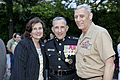 From left, Debbie Paxton; U.S. Marine Lt. Gen. George J. Flynn; and the Assistant Commandant of the Marine Corps, Gen. John M. Paxton, Jr., pose for a photo after Flynn's retirement ceremony at Marine Barracks 130509-M-KS211-275.jpg