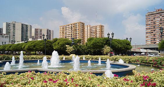Fuente en la Plaza del Rosario de Nuestra Señora de La Chiquinquira